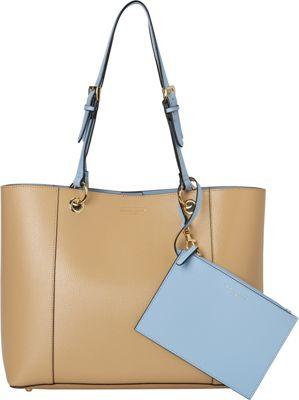 Tignanello Inside Out Double Sided Tote Dune/Light Denim - Tignanello Leather Handbags