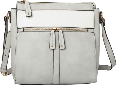 Hush Puppies Cassale Crossbody Grey/White - Hush Puppies Manmade Handbags