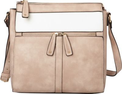 Hush Puppies Cassale Crossbody Blush/White - Hush Puppies Manmade Handbags