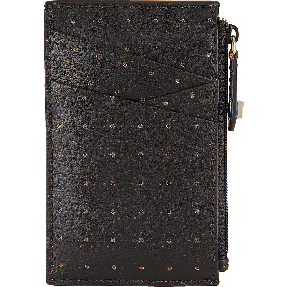 Lodis Blair Perf Ina Card Case Black/Taupe - Lodis Womens Wallets - Women's SLG, Women's Wallets