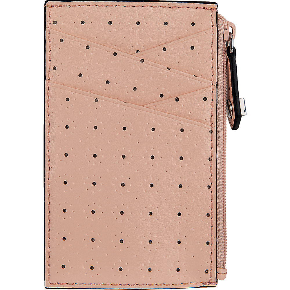 Lodis Blair Perf Ina Card Case Blush/ Taupe - Lodis Womens Wallets - Women's SLG, Women's Wallets