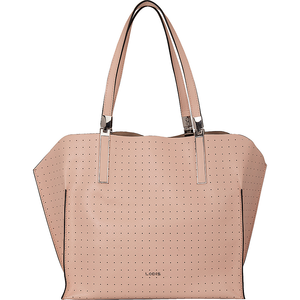 Lodis Blair Perf Anita East/West Multi Function Satchel Blush/ Taupe - Lodis Leather Handbags - Handbags, Leather Handbags