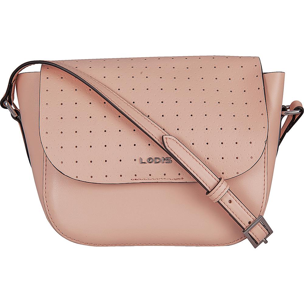 Lodis Blair Perf Bailey Crossbody Blush/ Taupe - Lodis Leather Handbags - Handbags, Leather Handbags