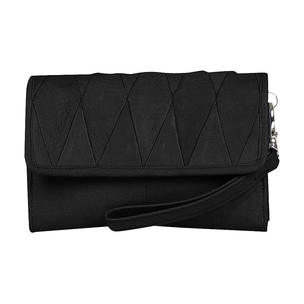 Day Mood Hale Clutch Black Day Mood Leather Handbags