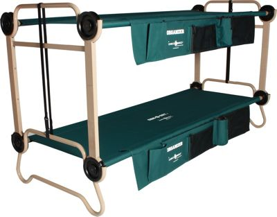 Disc-O-Bed CamOBunk Large with 2 Organizers Leg Extensions Green - Disc-O-Bed Outdoor Accessories