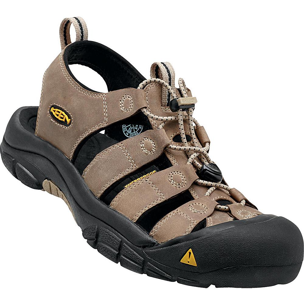 KEEN Mens Newport Sandal 10.5 - White Pepper/Black - KEEN Mens Footwear - Apparel & Footwear, Men's Footwear
