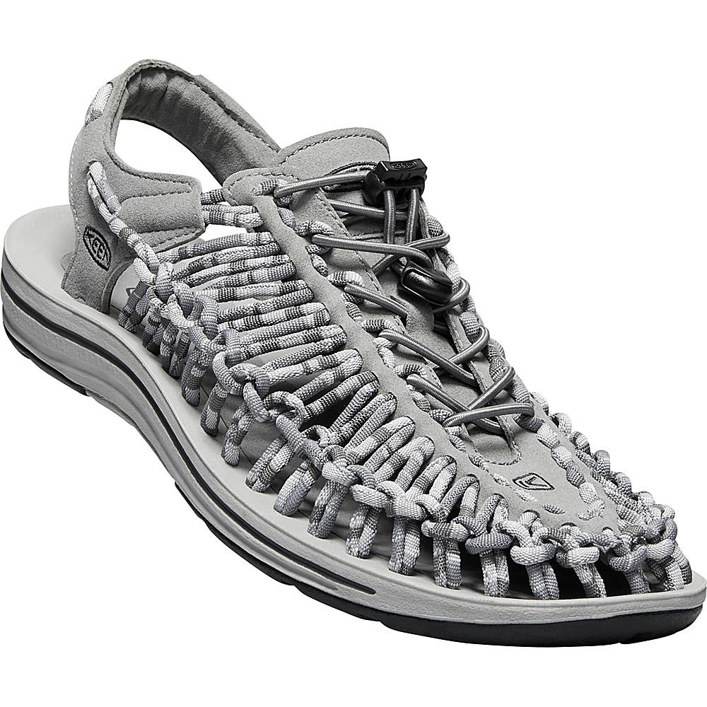 KEEN Mens UNEEK Flat Cord Sandal 13 - Steel Grey/Magnet - KEEN Mens Footwear - Apparel & Footwear, Men's Footwear