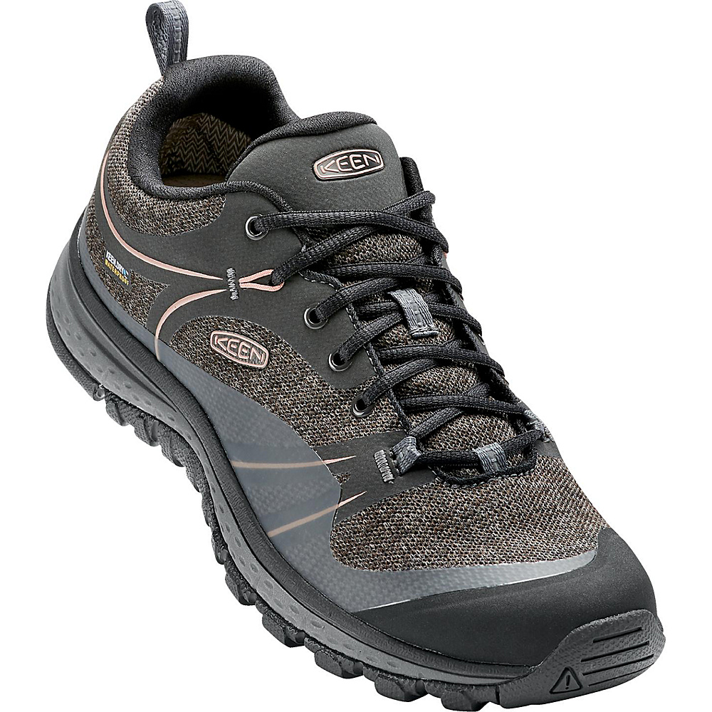 KEEN Womens Terradora Waterproof Boot 6 - Raven/Rose Dawn - KEEN Womens Footwear - Apparel & Footwear, Women's Footwear