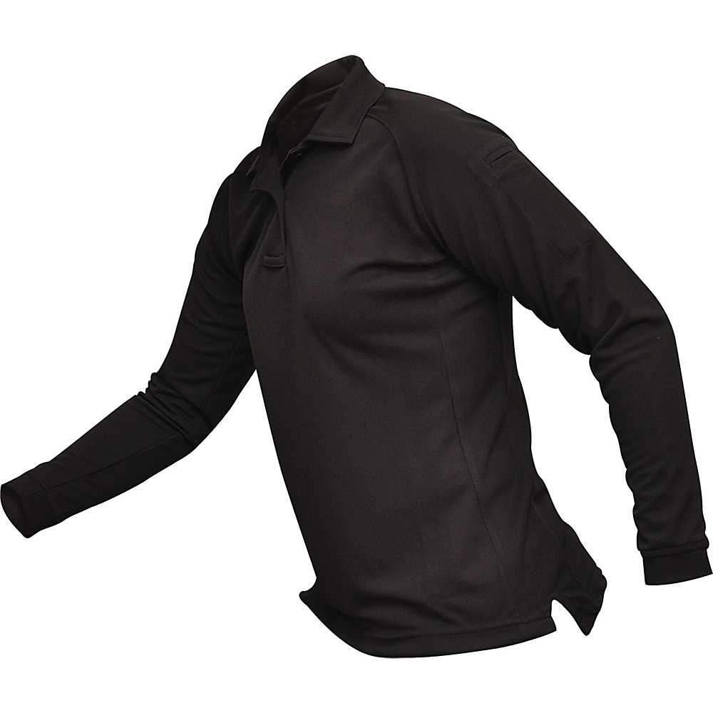 Vertx Womens Coldblack Long Sleeve Polo M - Black - Vertx Womens Apparel - Apparel & Footwear, Women's Apparel