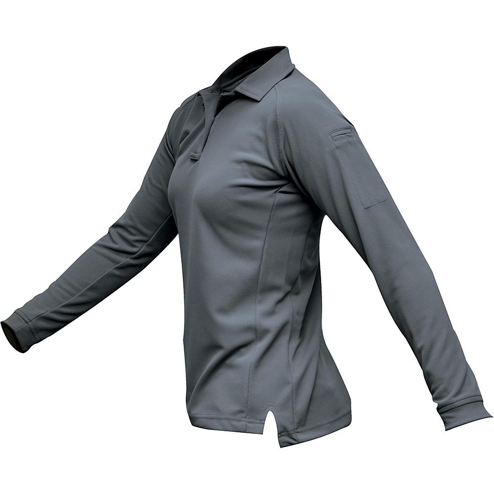 Vertx Womens Coldblack Long Sleeve Polo L - Grey - Vertx Womens Apparel - Apparel & Footwear, Women's Apparel