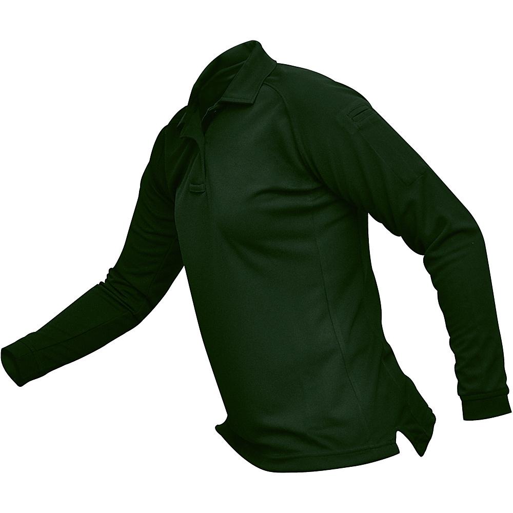 Vertx Womens Coldblack Long Sleeve Polo L - Spruce Green - Vertx Womens Apparel - Apparel & Footwear, Women's Apparel