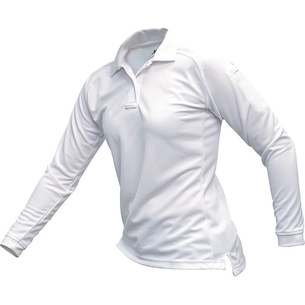 Vertx Womens Coldblack Long Sleeve Polo L - White - Vertx Womens Apparel - Apparel & Footwear, Women's Apparel