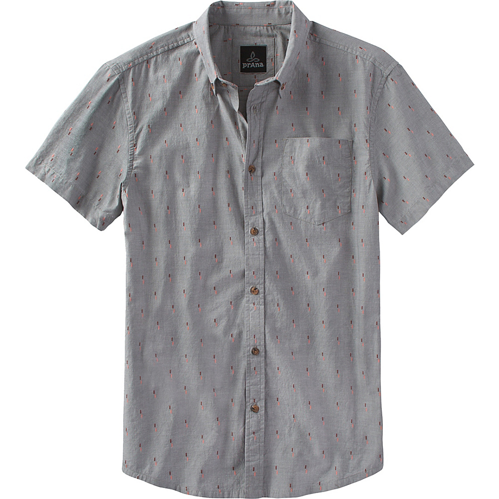 PrAna Broderick Slim Shirt XL - Gravel - PrAna Mens Apparel - Apparel & Footwear, Men's Apparel