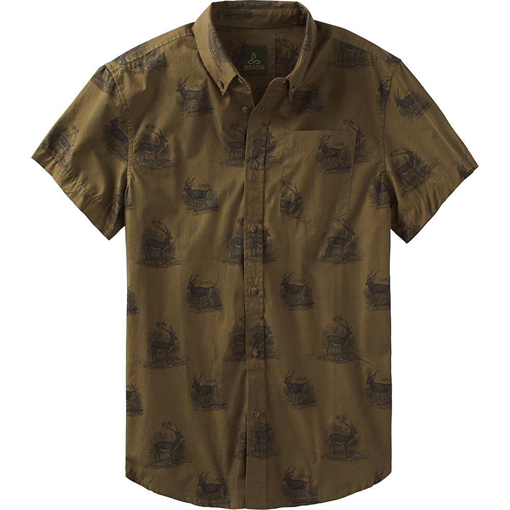 PrAna Broderick Slim Shirt L - Hazel - PrAna Mens Apparel - Apparel & Footwear, Men's Apparel