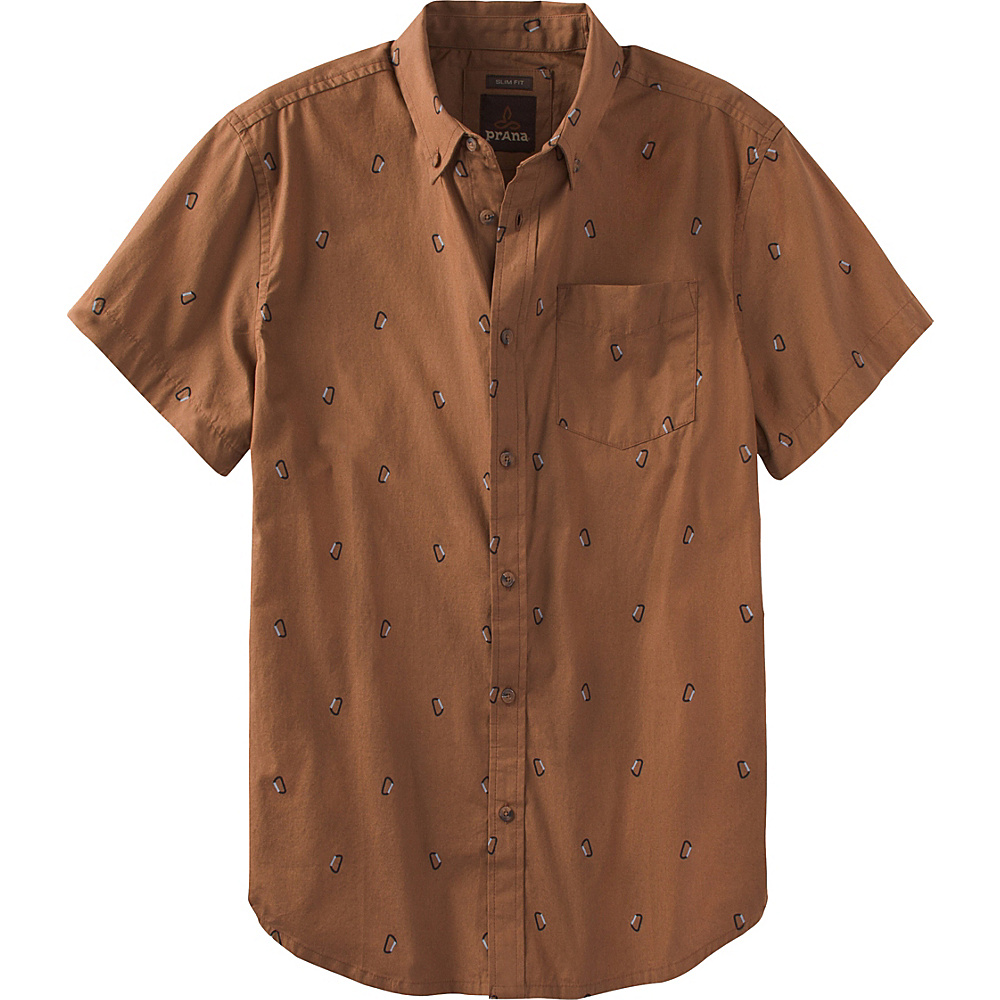 PrAna Broderick Slim Shirt XL - Tree Bark - PrAna Mens Apparel - Apparel & Footwear, Men's Apparel