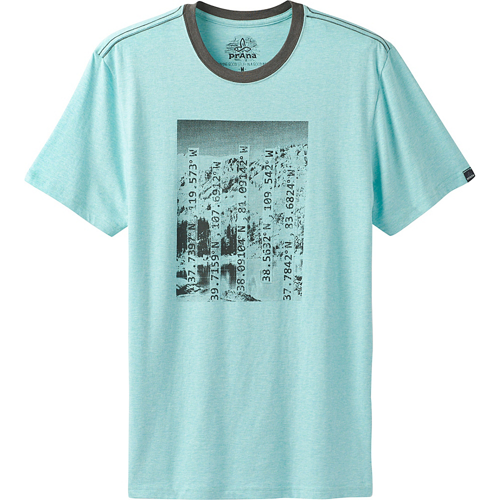 PrAna Coordinates T-Shirt L - Surf Blue - PrAna Mens Apparel - Apparel & Footwear, Men's Apparel