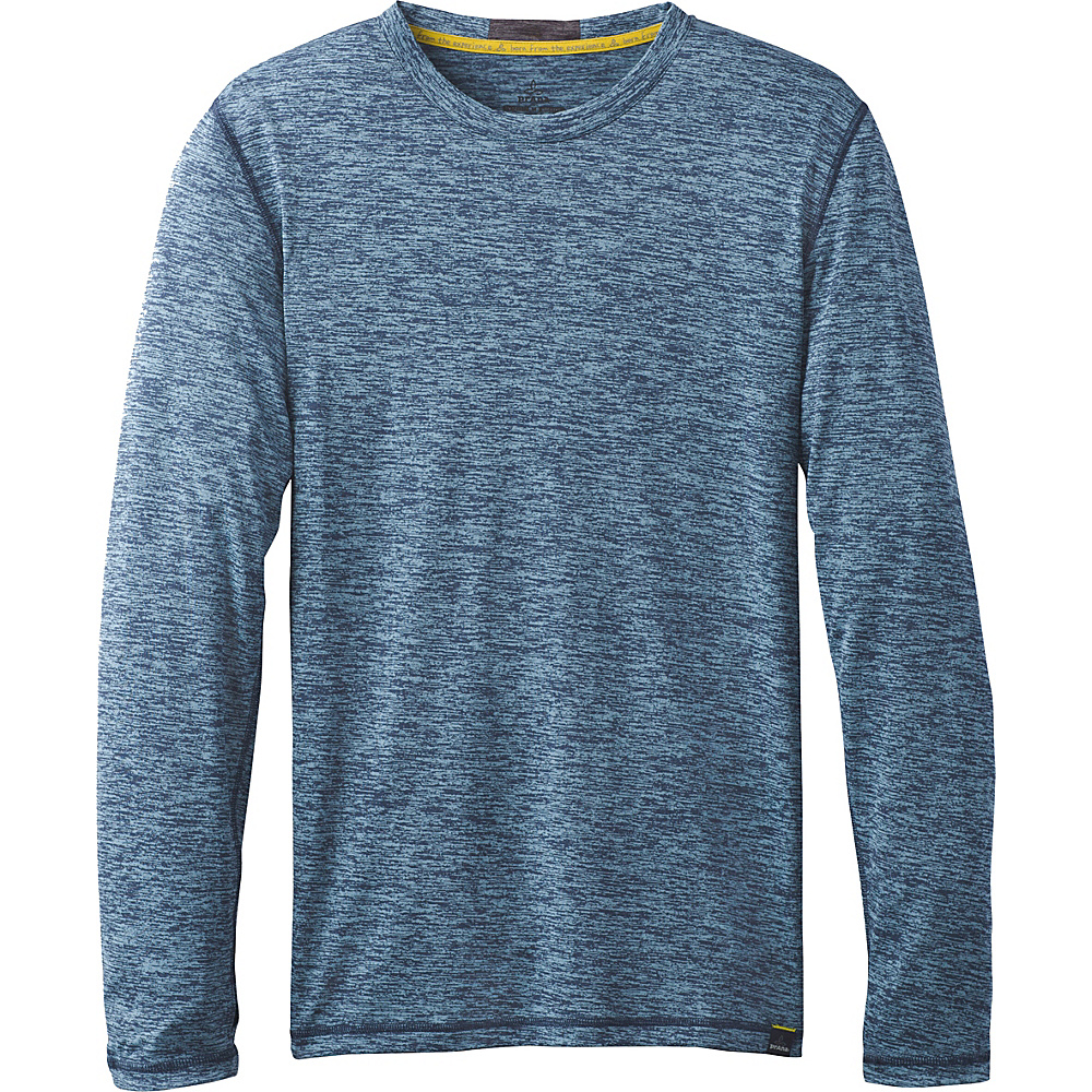 PrAna Hardesty Long Sleeve Shirt L - Dusky Skies - PrAna Mens Apparel - Apparel & Footwear, Men's Apparel