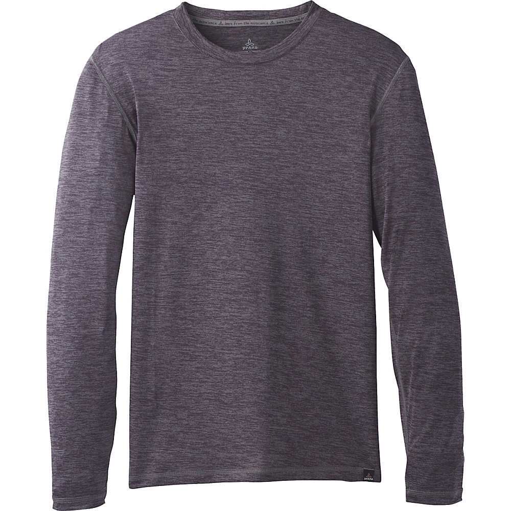PrAna Hardesty Long Sleeve Shirt M - Gravel - PrAna Mens Apparel - Apparel & Footwear, Men's Apparel
