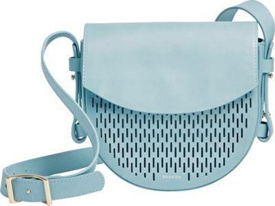 Skagen Lobelle Leather Saddle Bag Sky Blue - Skagen Leather Handbags