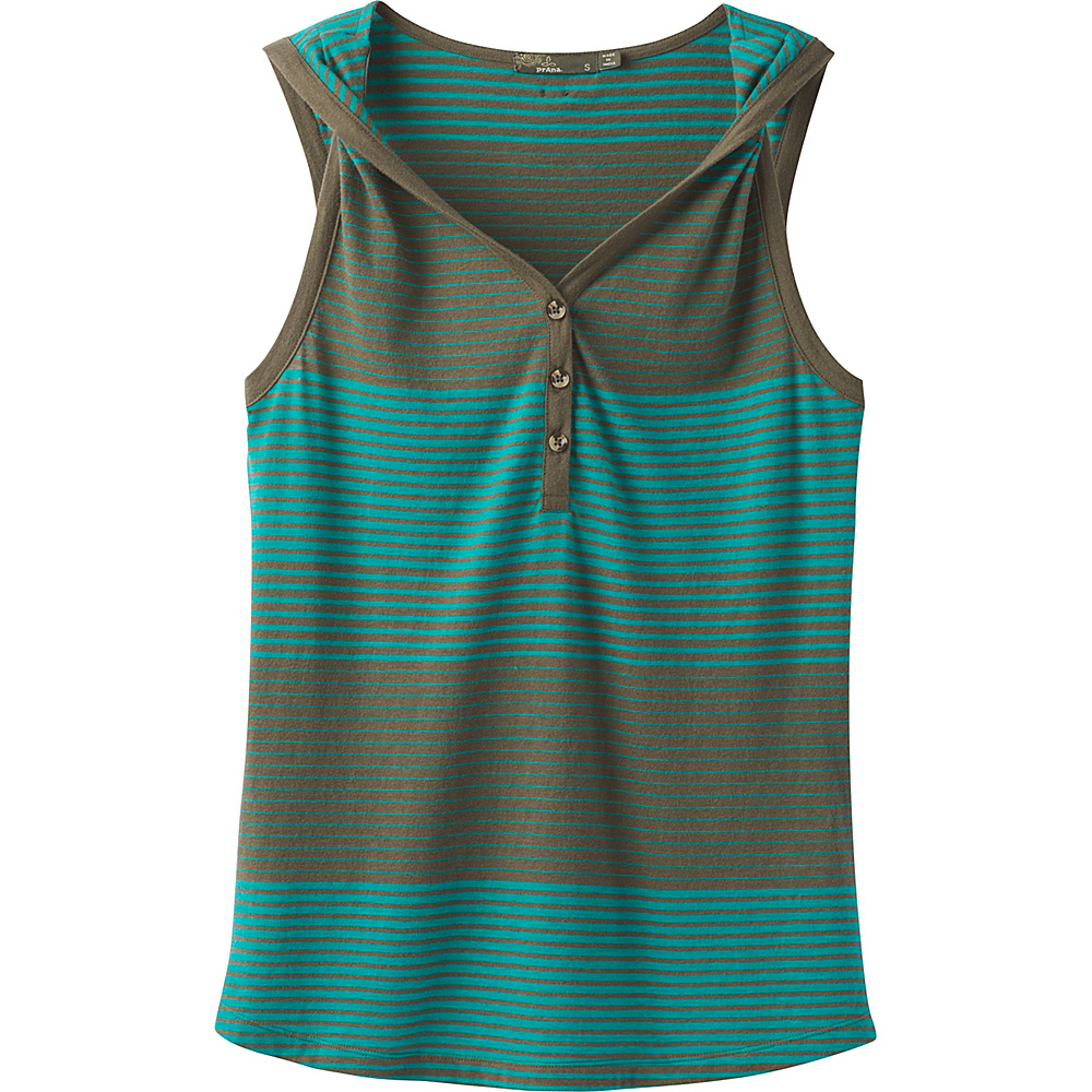 PrAna Midsummer Tank Henley S - Cargo Green - PrAna Womens Apparel - Apparel & Footwear, Women's Apparel