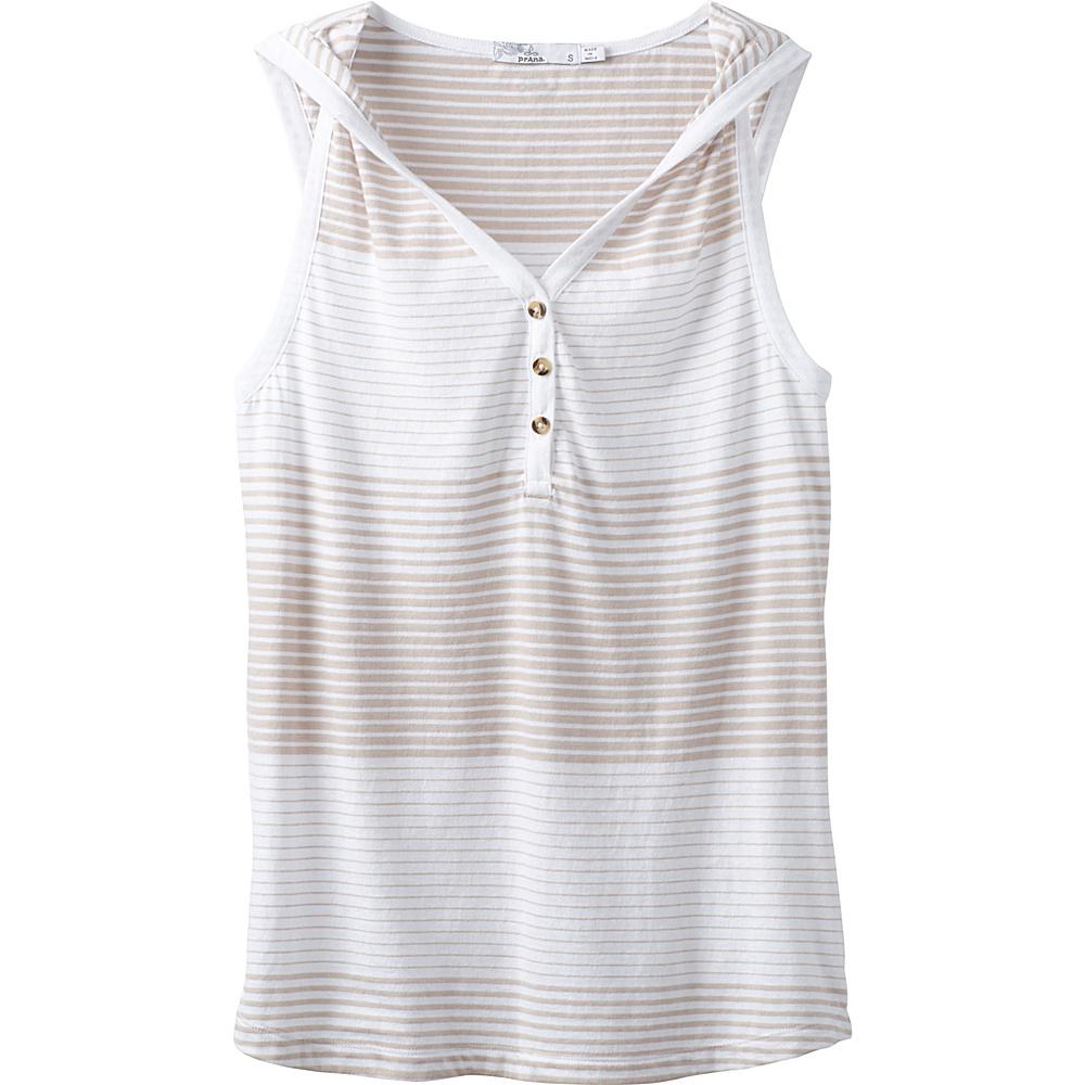 PrAna Midsummer Tank Henley L - White - PrAna Womens Apparel - Apparel & Footwear, Women's Apparel
