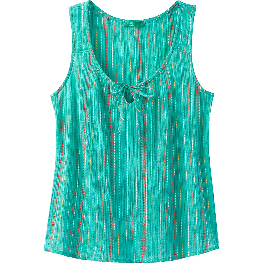 PrAna Jardin Top L - Aquamarine Stripe - PrAna Womens Apparel - Apparel & Footwear, Women's Apparel