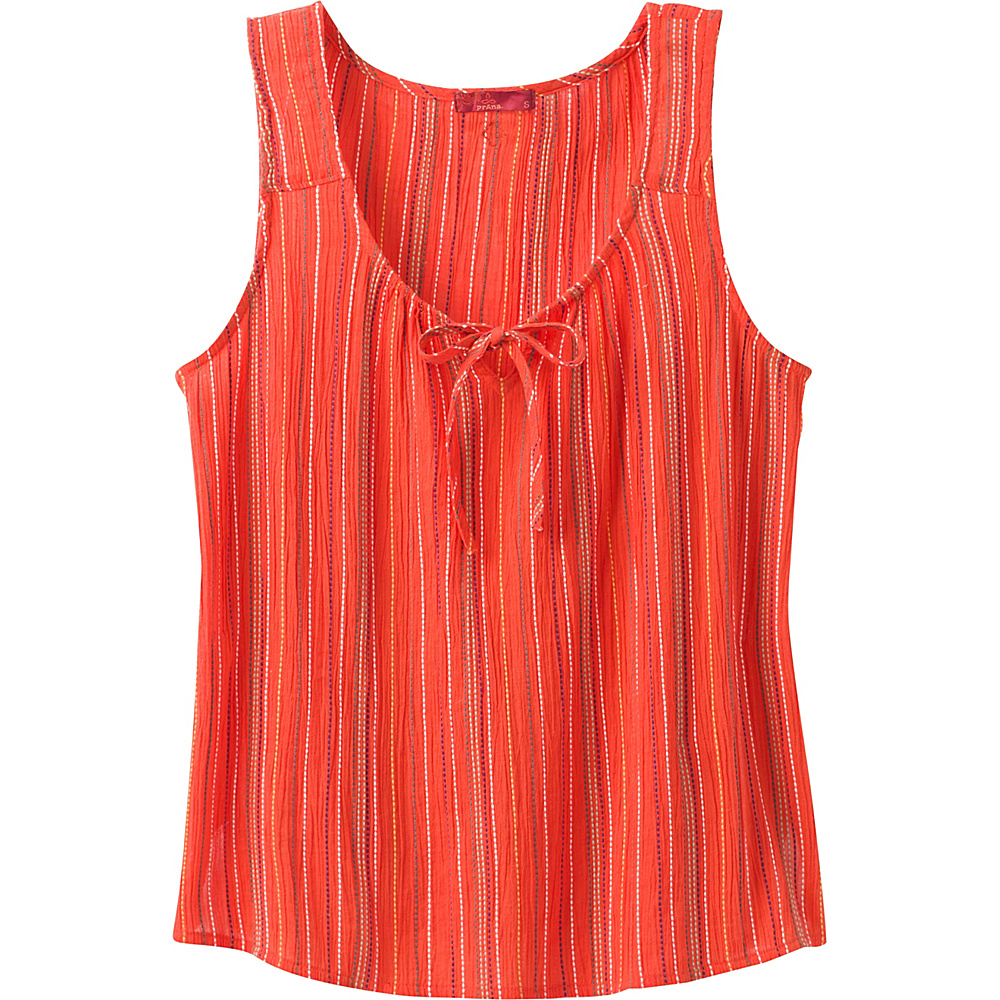 PrAna Jardin Top L - Poppy Stripe - PrAna Womens Apparel - Apparel & Footwear, Women's Apparel