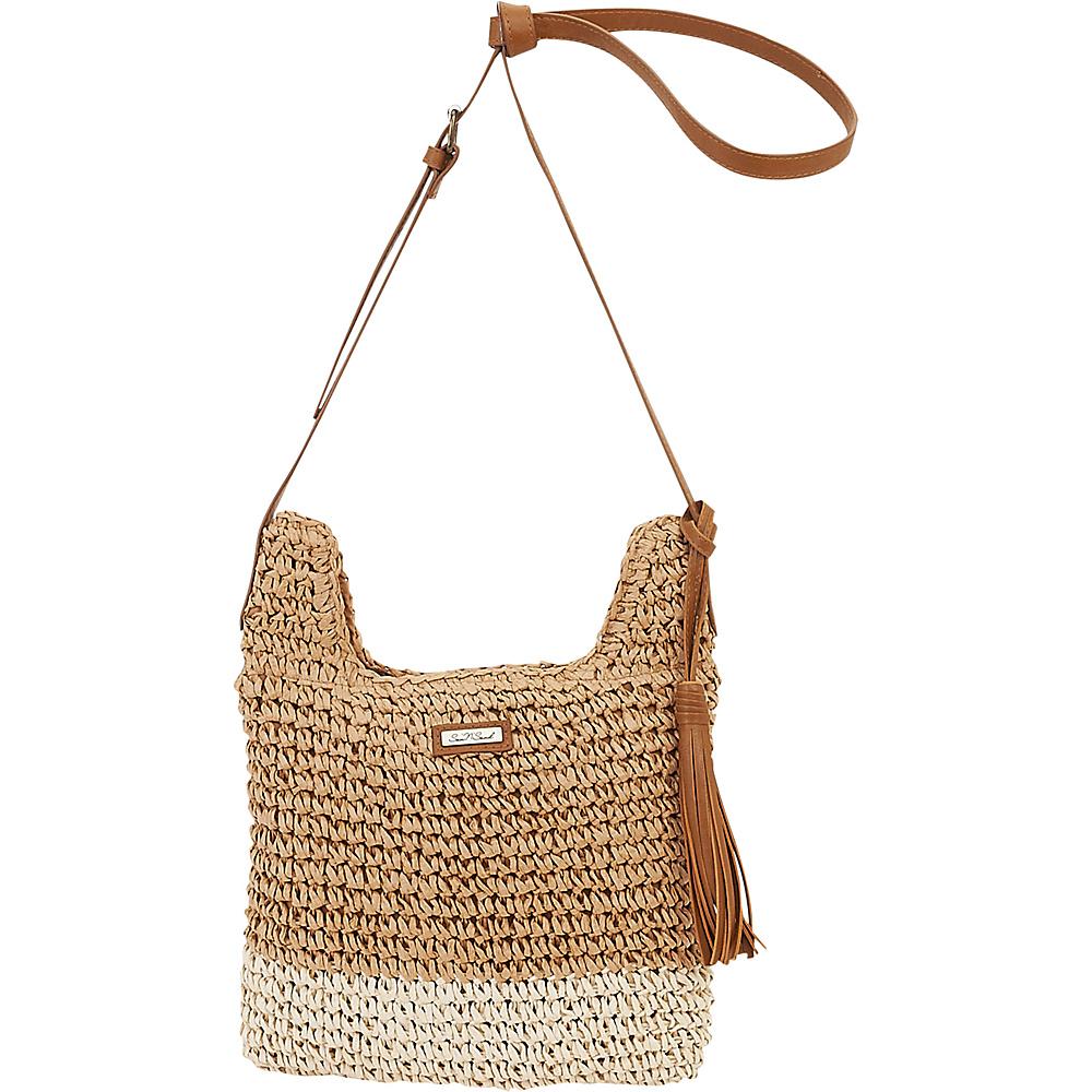 Sun N Sand Natural Crochet Handbag Crossbody Tan - Sun N Sand Straw Handbags - Handbags, Straw Handbags