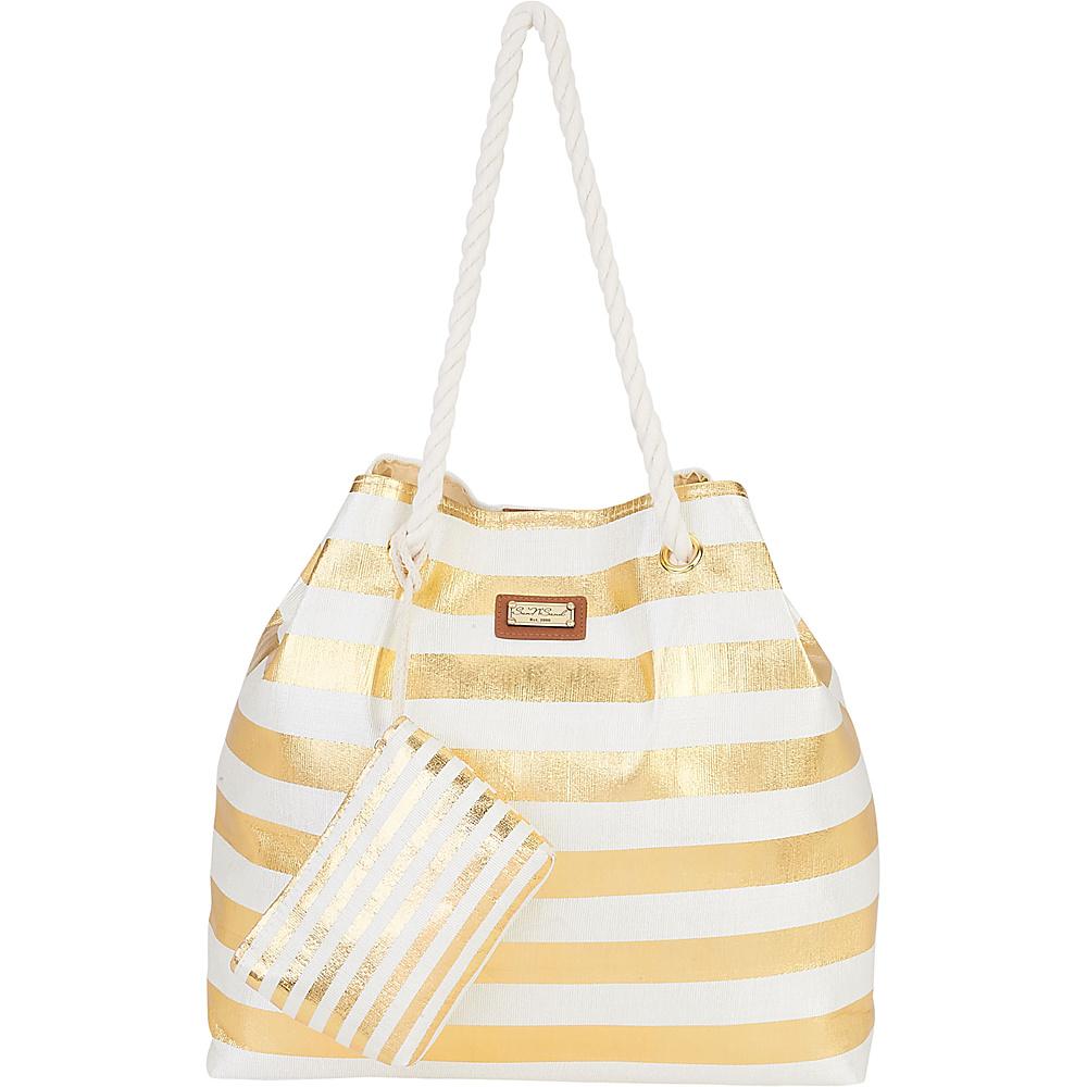 Sun N Sand Beach Bound Beach Canvas Tote Gold - Sun N Sand Fabric Handbags - Handbags, Fabric Handbags