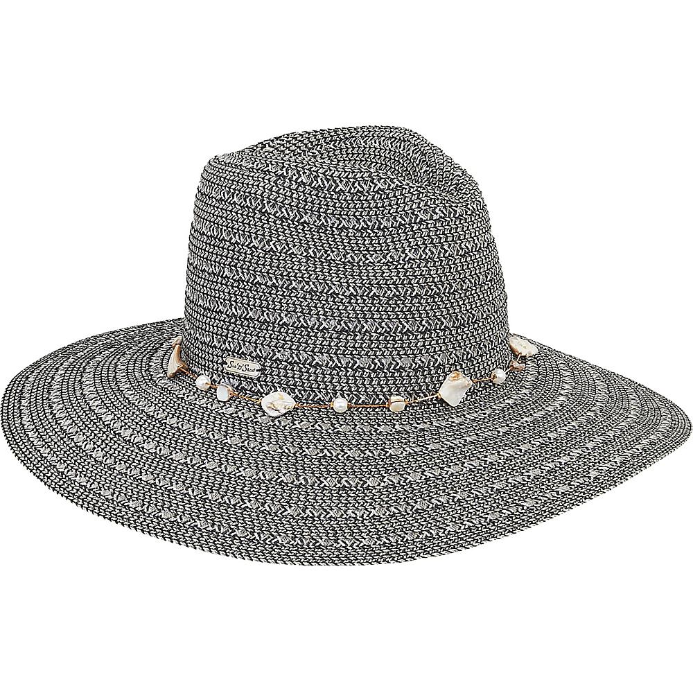 Sun N Sand Paper Braid Hat Black - Sun N Sand Hats - Fashion Accessories, Hats