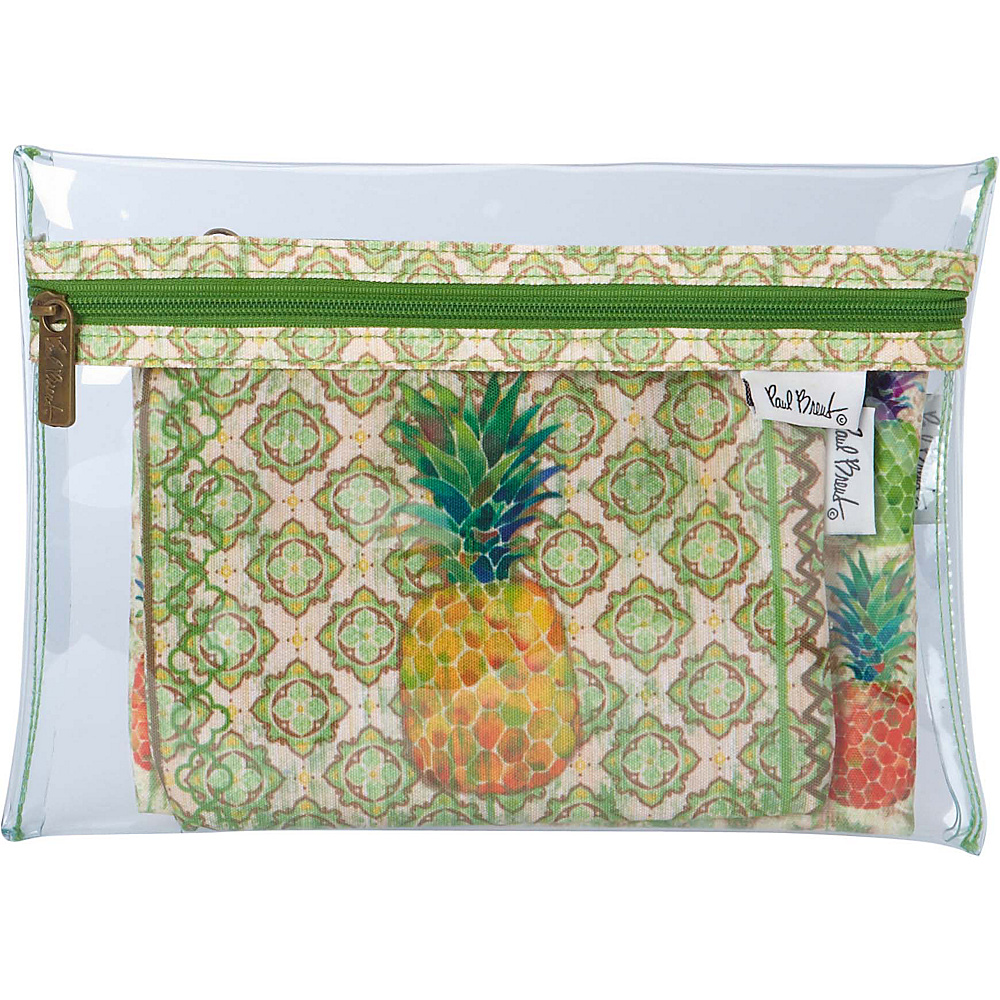 Sun N Sand Paul Brent Artistic Canvas Wallet Pineapple - Sun N Sand Travel Wallets - Travel Accessories, Travel Wallets