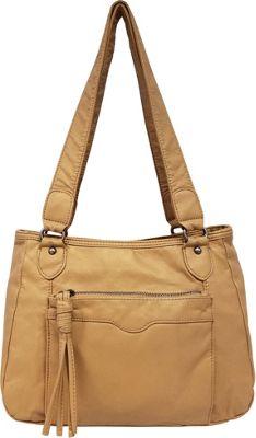 Bueno Pearlized Washed Satchel Sand - Bueno Manmade Handbags