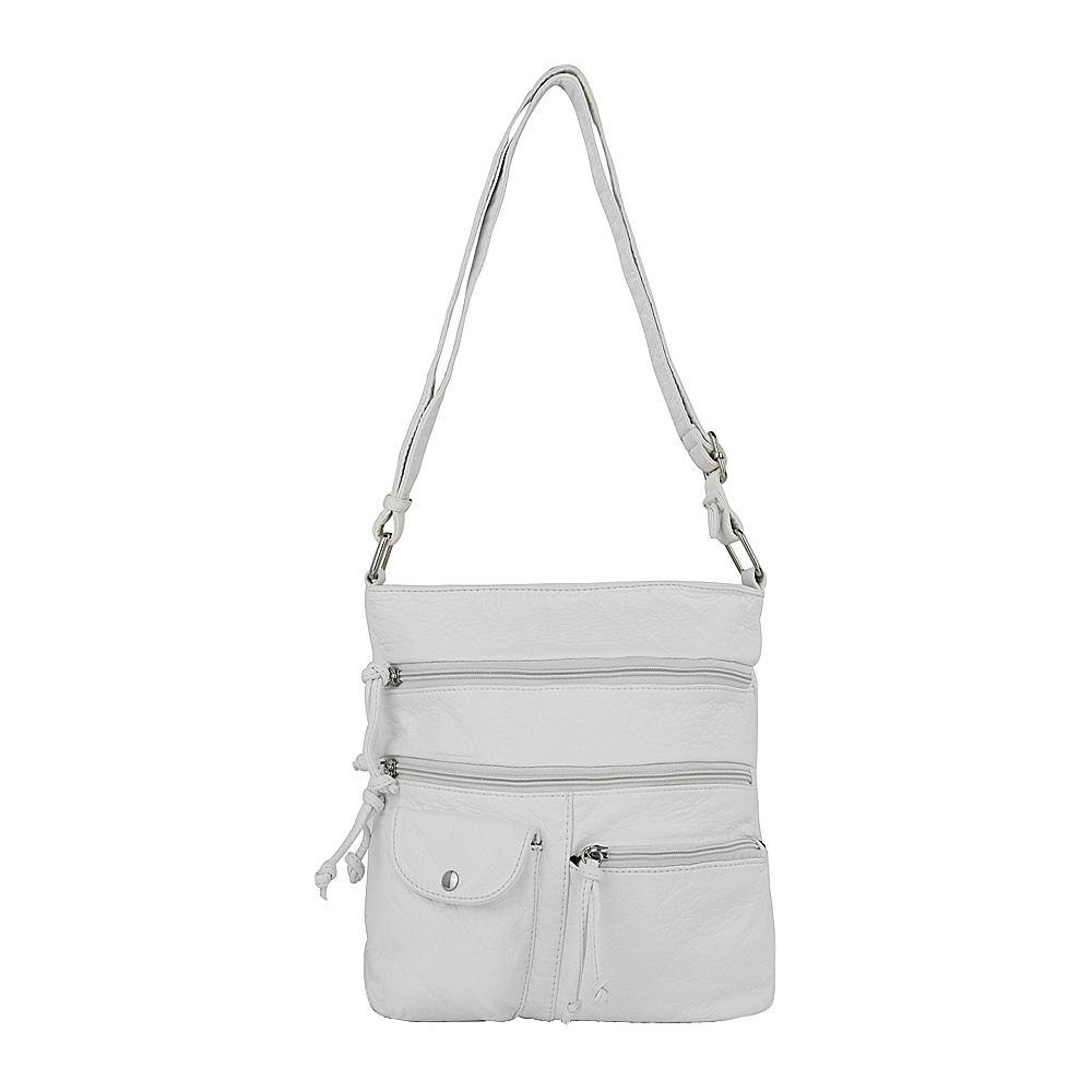 MKF Collection by Mia K. Farrow Columbus Crossbody White - MKF Collection by Mia K. Farrow Manmade Handbags - Handbags, Manmade Handbags