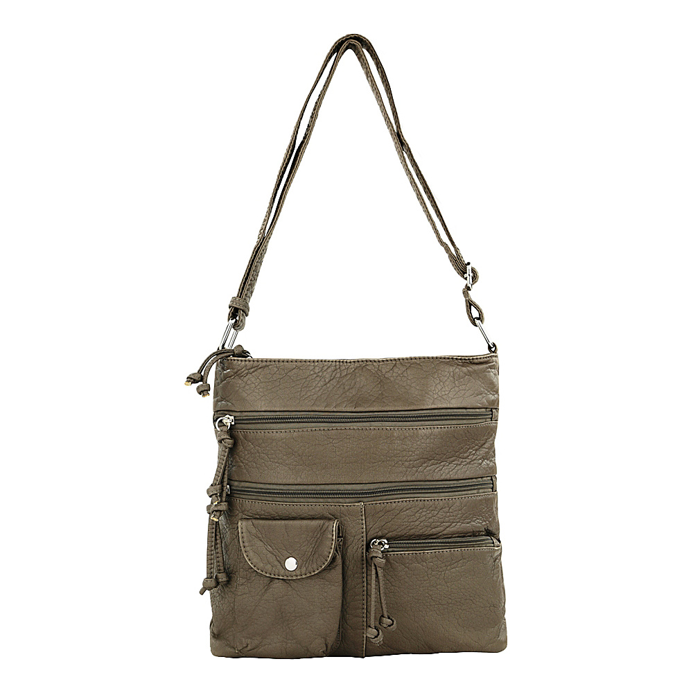 MKF Collection by Mia K. Farrow Columbus Crossbody Grey - MKF Collection by Mia K. Farrow Manmade Handbags - Handbags, Manmade Handbags