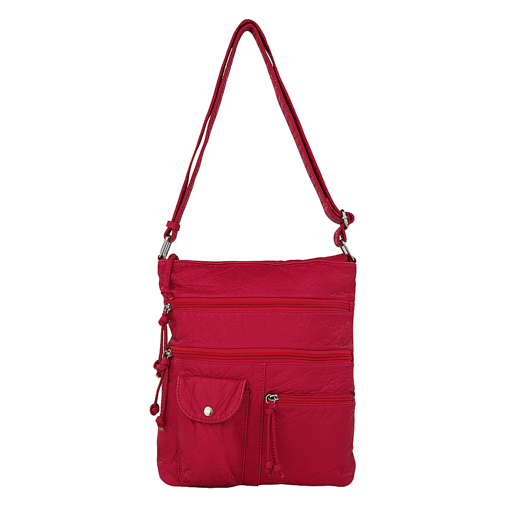 MKF Collection by Mia K. Farrow Columbus Crossbody Hot Pink (Fushsia) - MKF Collection by Mia K. Farrow Manmade Handbags - Handbags, Manmade Handbags