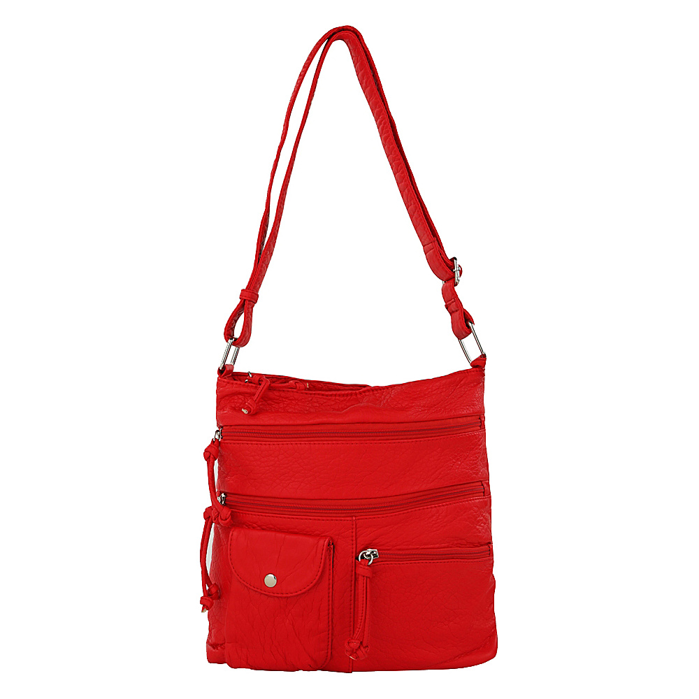 MKF Collection by Mia K. Farrow Columbus Crossbody Light Red - MKF Collection by Mia K. Farrow Manmade Handbags - Handbags, Manmade Handbags