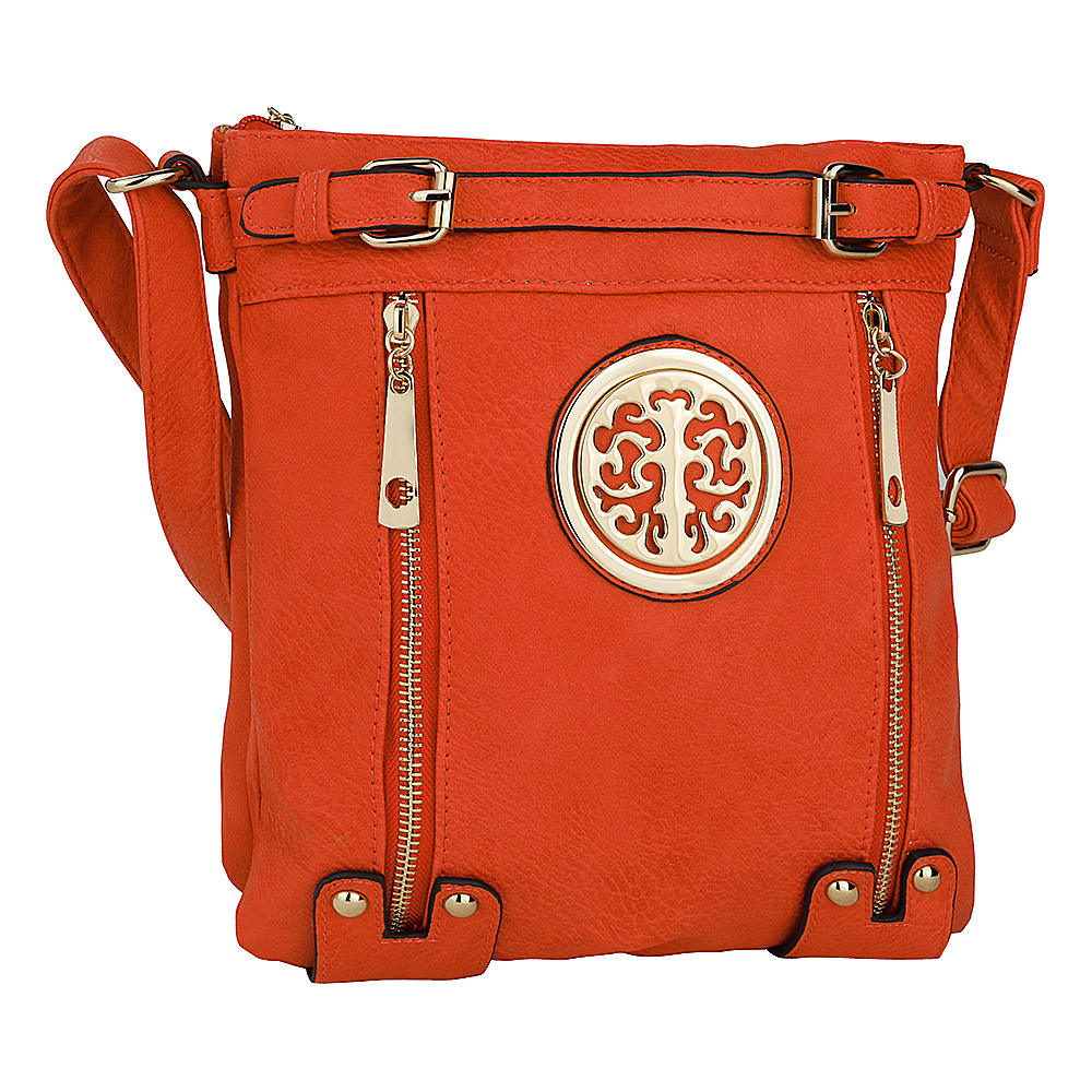 MKF Collection by Mia K. Farrow Avery Crossbody Orange - MKF Collection by Mia K. Farrow Manmade Handbags - Handbags, Manmade Handbags