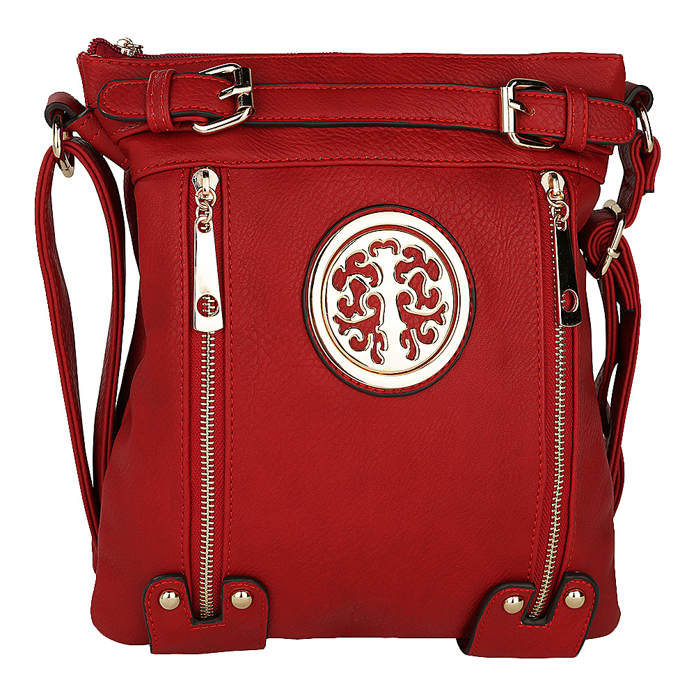 MKF Collection by Mia K. Farrow Avery Crossbody Red - MKF Collection by Mia K. Farrow Manmade Handbags - Handbags, Manmade Handbags