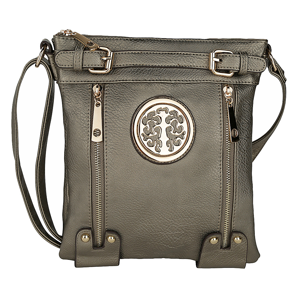 MKF Collection by Mia K. Farrow Avery Crossbody Silver - MKF Collection by Mia K. Farrow Manmade Handbags - Handbags, Manmade Handbags
