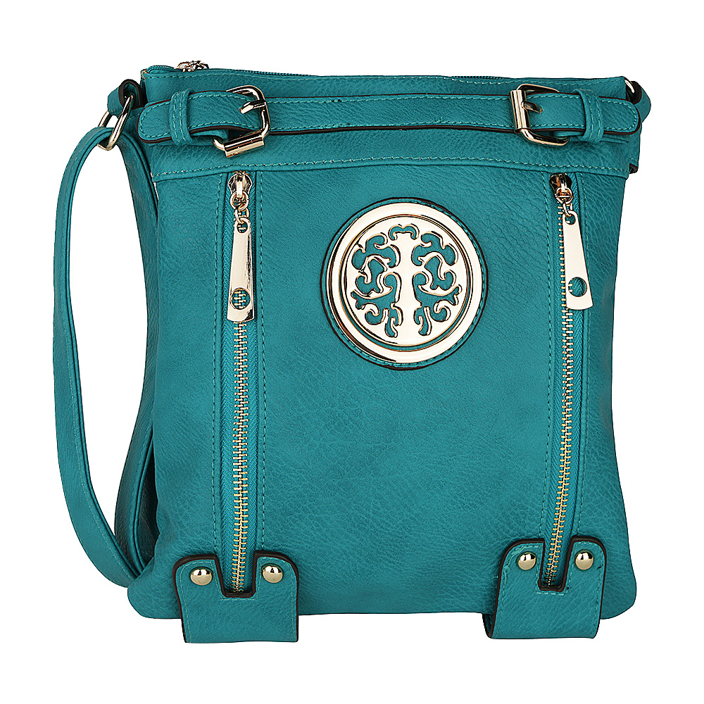 MKF Collection by Mia K. Farrow Avery Crossbody Turquoise - MKF Collection by Mia K. Farrow Manmade Handbags - Handbags, Manmade Handbags