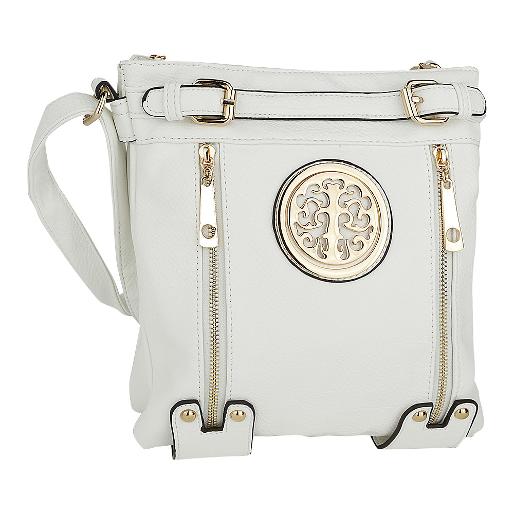 MKF Collection by Mia K. Farrow Avery Crossbody White - MKF Collection by Mia K. Farrow Manmade Handbags - Handbags, Manmade Handbags