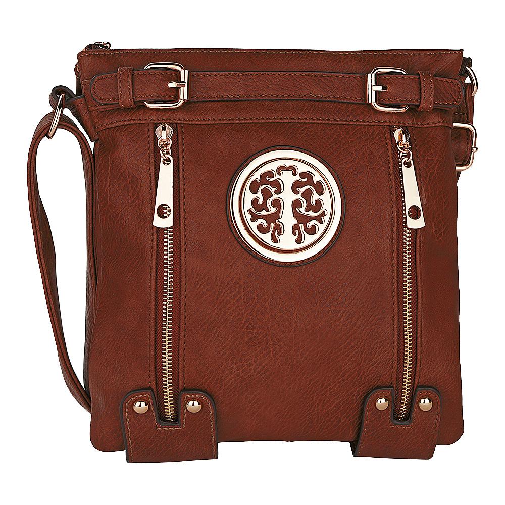 MKF Collection by Mia K. Farrow Avery Crossbody Brown - MKF Collection by Mia K. Farrow Manmade Handbags - Handbags, Manmade Handbags