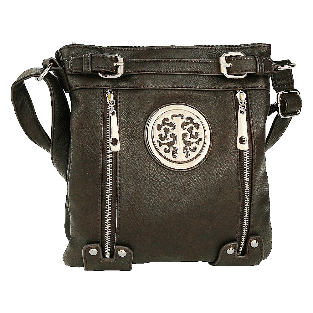 MKF Collection by Mia K. Farrow Avery Crossbody Coffee - MKF Collection by Mia K. Farrow Manmade Handbags - Handbags, Manmade Handbags