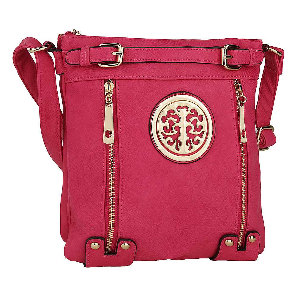 MKF Collection by Mia K. Farrow Avery Crossbody Fuchsia - MKF Collection by Mia K. Farrow Manmade Handbags - Handbags, Manmade Handbags