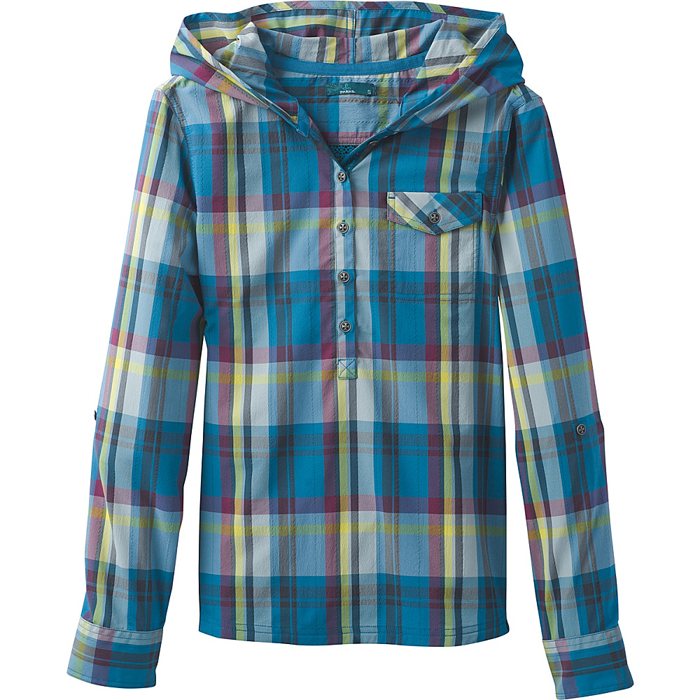 PrAna Anja Top XS - River Rock Blue - PrAna Womens Apparel - Apparel & Footwear, Women's Apparel