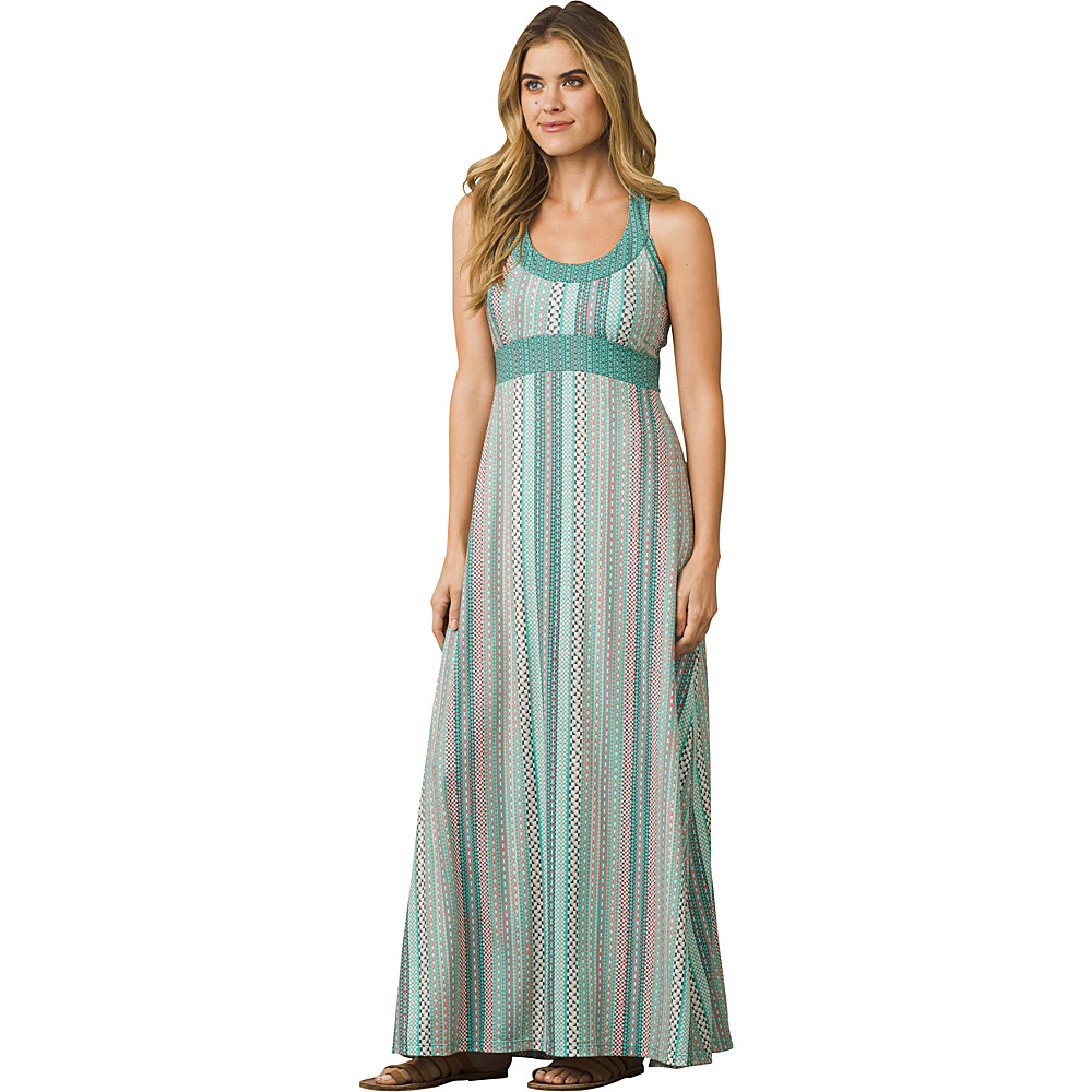 PrAna Cali Maxi Dress XS - Aquamarine Carnivale - PrAna Womens Apparel - Apparel & Footwear, Women's Apparel