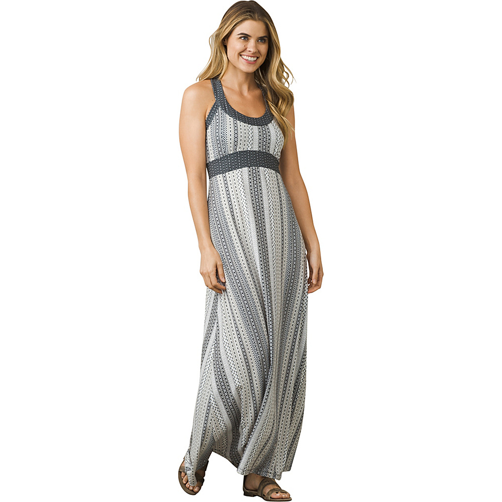 PrAna Cali Maxi Dress XS - Charcoal Carnivale - PrAna Womens Apparel - Apparel & Footwear, Women's Apparel