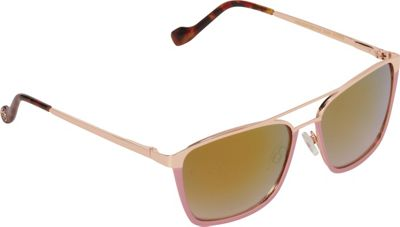 Jessica Simpson Sunwear Vintage Inspired Rectangle Sunglasses Rose Gold Rose - Jessica Simpson Sunwear Eyewear