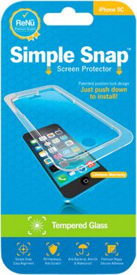 Simple Snap Screen Protector iPhone 5C Tempered Glass Transparent - Simple Snap Electronic Accessories