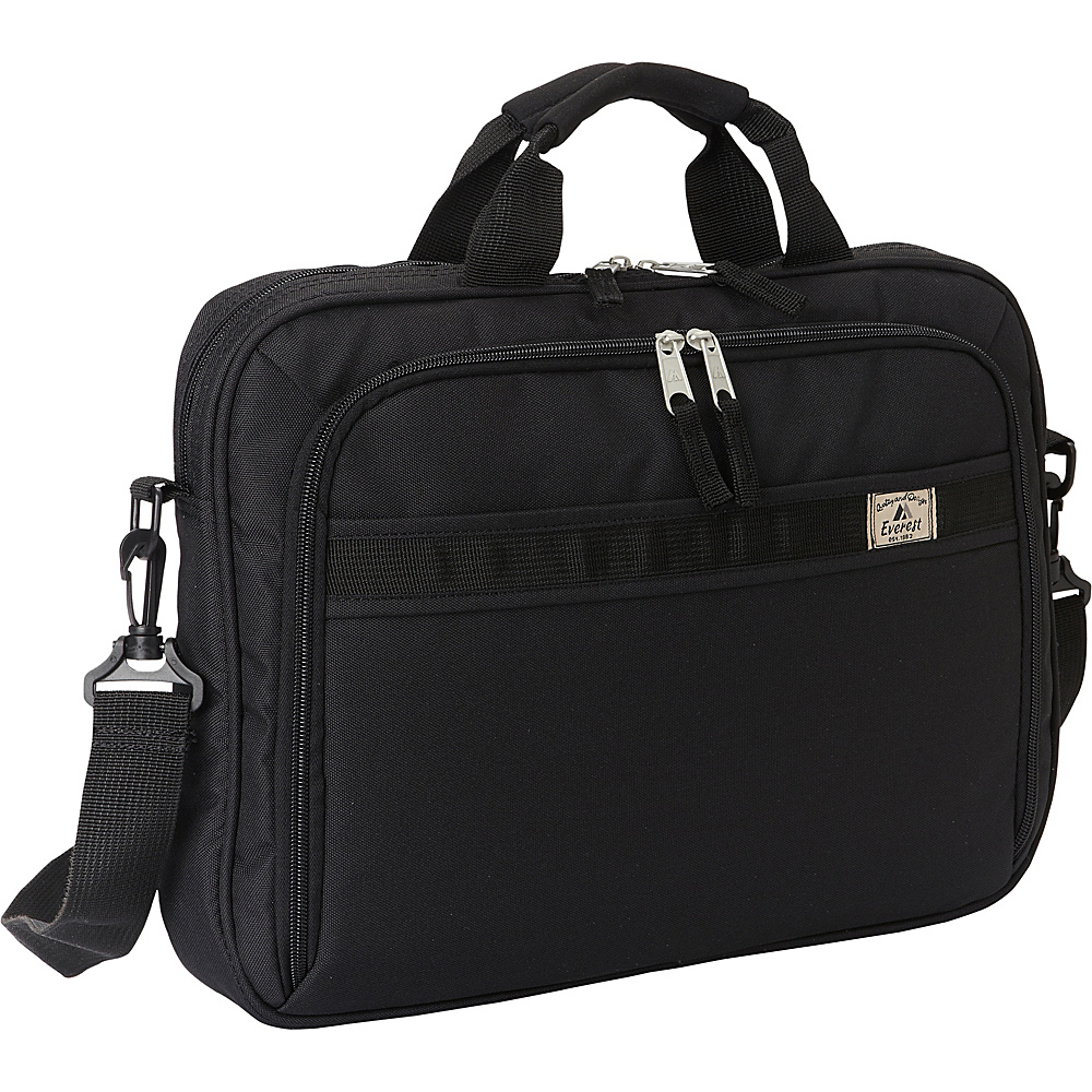 Everest Slim Briefcase Black - Everest Non-Wheeled Business Cases - Work Bags & Briefcases, Non-Wheeled Business Cases